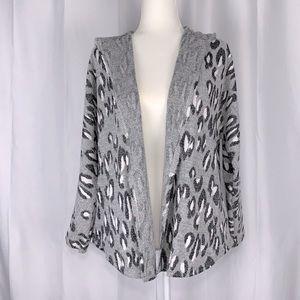 BB Dakota Hissy Knit Leopard Jacquard Jacket S,M